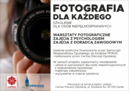 "Plakat dot. projektu ""Fotografia dla każdego"""